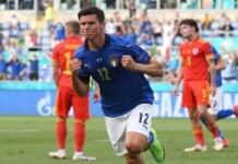 EURO 2020: Watch Mateo Pessina tucks in beautifully from a free kick to give Italy a 1-0 lead against Wales.