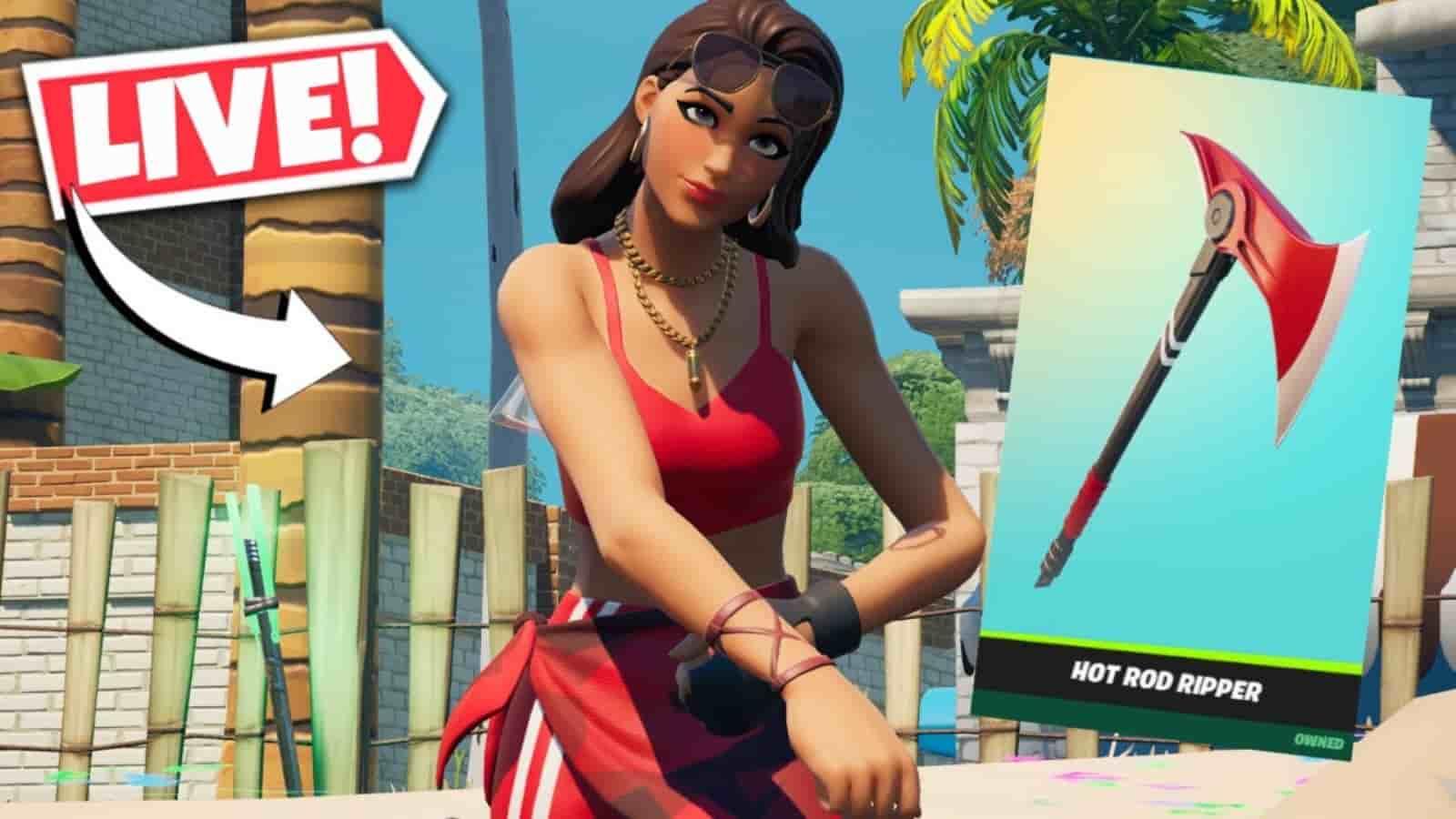 New Fortnite Boardwalk Ruby Skin in Item Shop