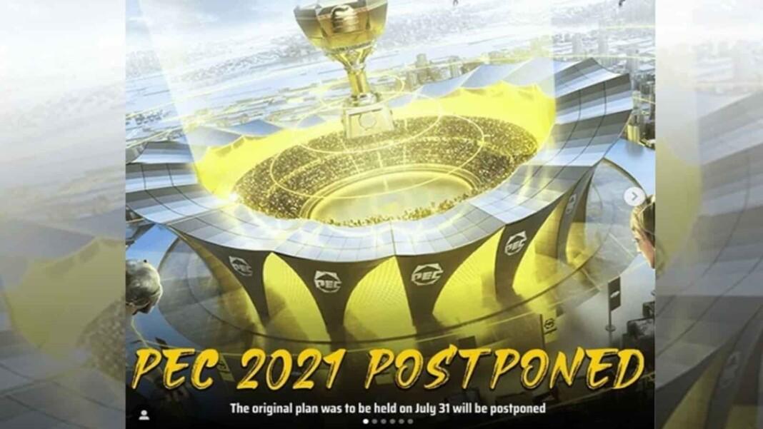 PUBG Mobile: Peace Elite Championship 2021(PEC) Postponed