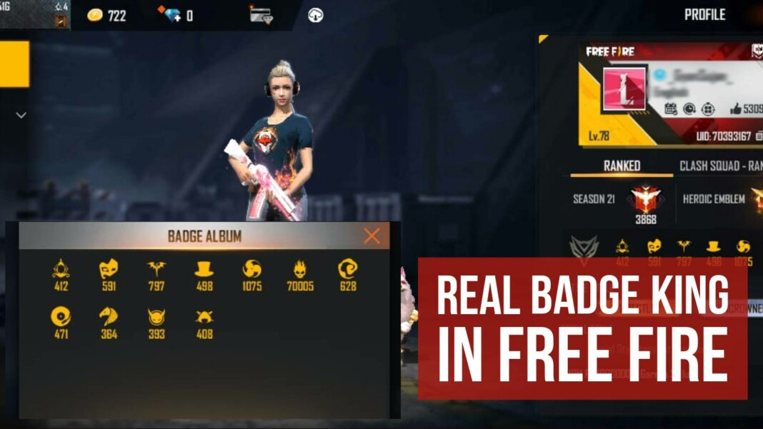 elite pass badge king in Free Fire