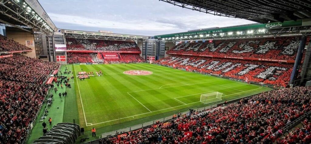 Interior view of the Parken Stadium
