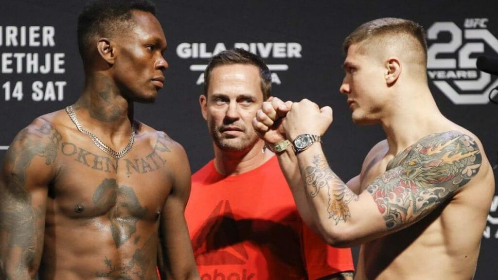 Israel Adesanya vs Marvin Vettori UFC 263