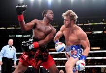 KSI reacts to Logan Paul vs Floyd Mayweather