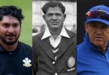 Kumar Sangakkara, Vinoo Mankad and Andy Flower