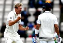 Kyle Jamieson celebrates Virat Kohli's wicket