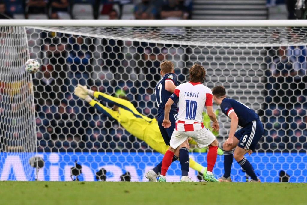 Luka Modric's strike nestles into the top corner