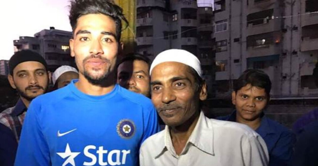 Mohammed Siraj and his father