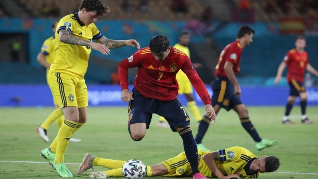 Morata endured a tough evening against Sweden