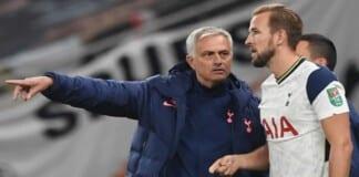 Mourinho and Harry Kane
