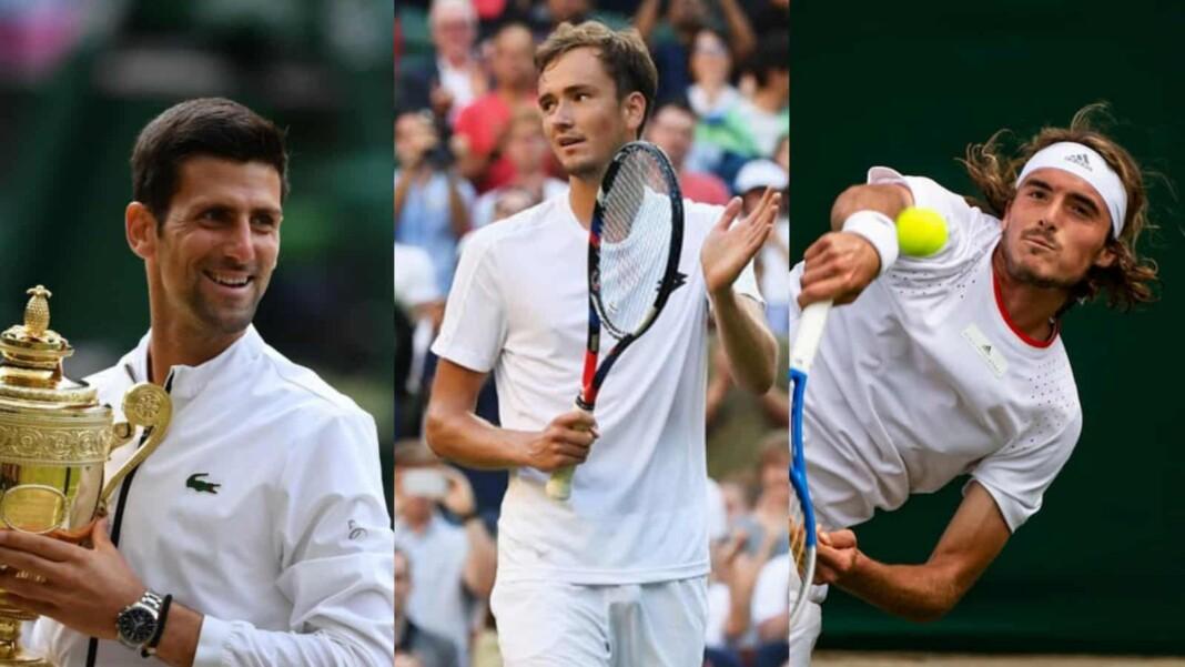 Novak Djokovic, Daniil Medvedev, Stefanos Tsitsipas