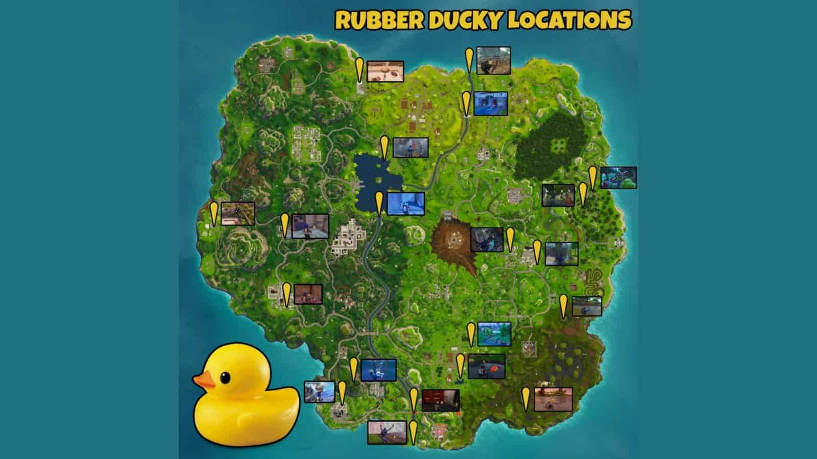 Rubber Ducks in Fortnite Locations