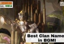 clan names in Battlegrounds Mobile India