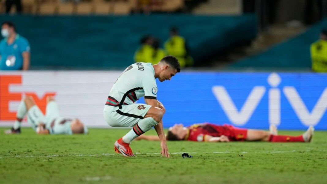 Cristiano Ronaldo after the defeat