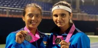 Sania Mirza and Ankita Raina