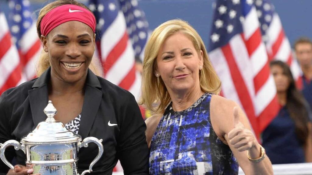 Serena Williams and Chris Evert