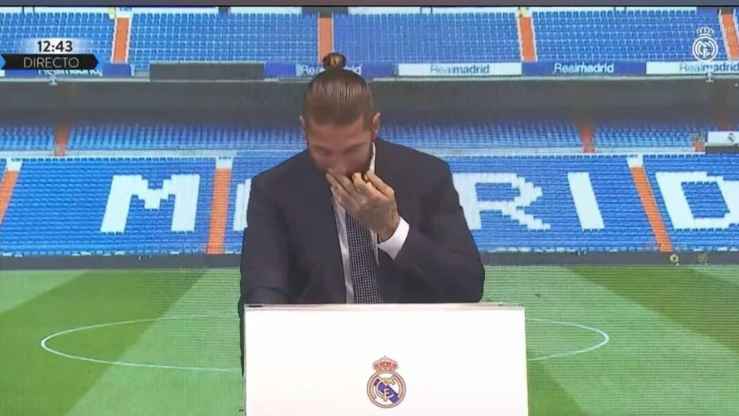 Sergio Ramos crying