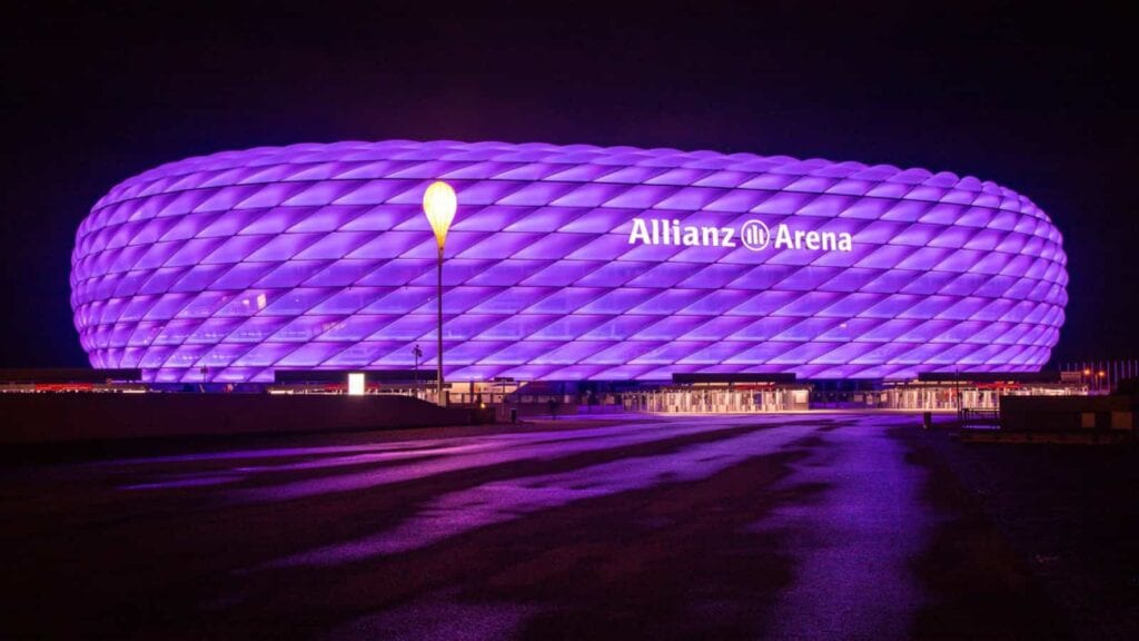 Special illuminations at Allianz Arena is a regular feature of the venue