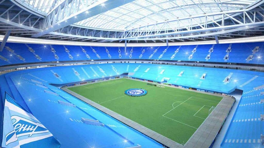St Petersburg plays home to the Russian Club FC Zenit Saint Petersburg