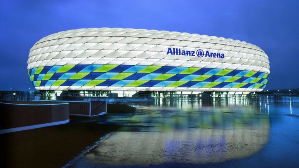 The versatile exterior of the Allianz Arena would be at display in the Euro 2020
