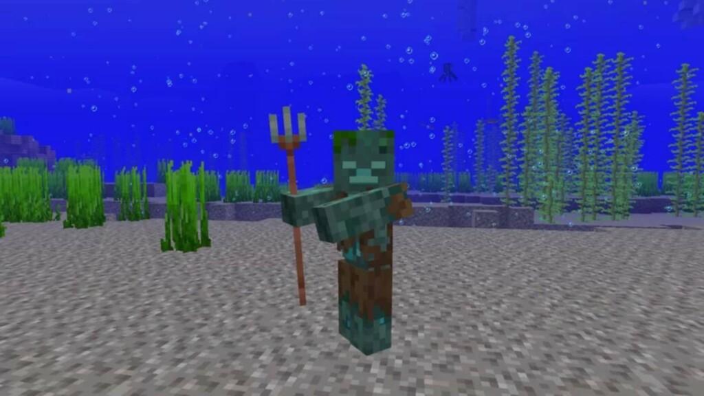 Tridents in Minecraft