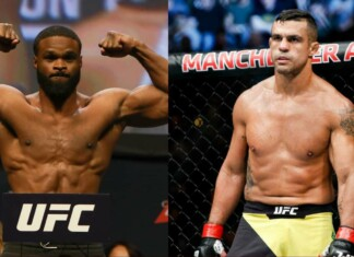 Tyron Woodley and Vitor Belfort