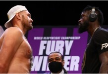 Tyson Fury and Deontay Wilder at their pre-fight press conference