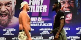 Tyson Fury and Deontay Wilder face off