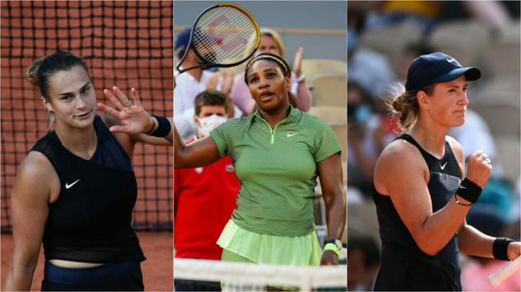 Aryna Sabalenka, Serena Williams and Victoria Azarenka