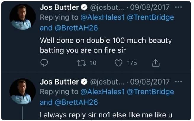 Buttler Tweet