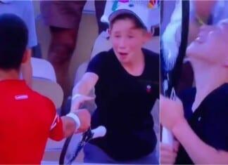 Novak Djokovic gave his French Open winning racquet to kid