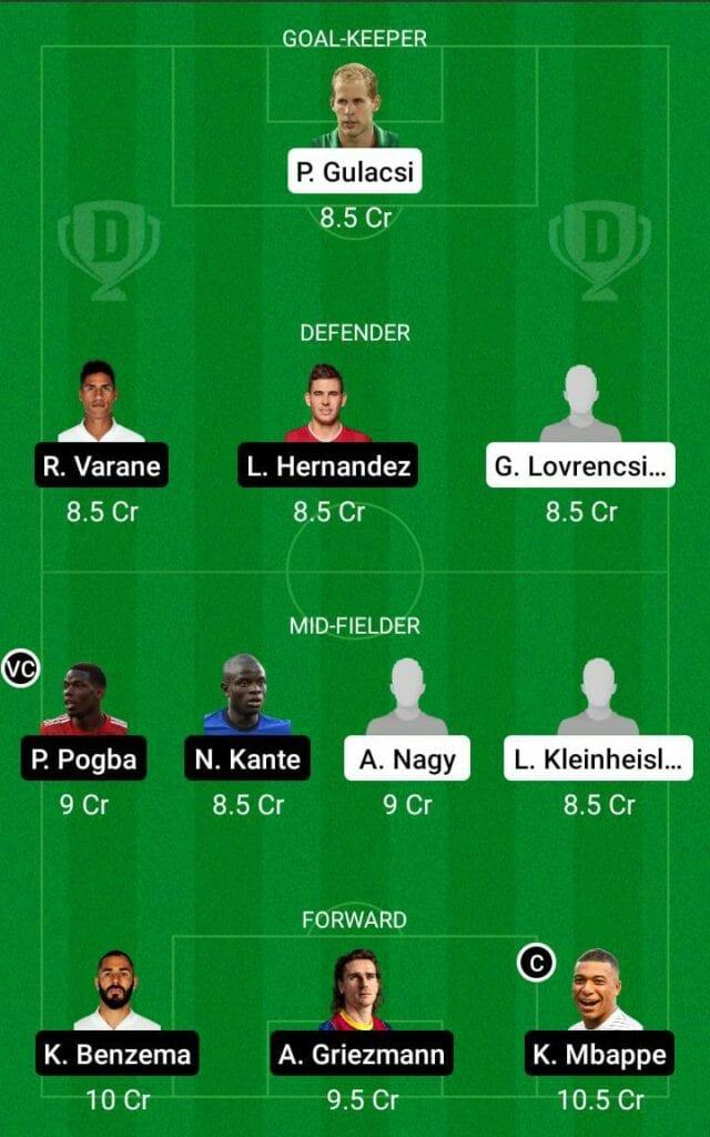 HUN vs FRA Dream11 Prediction