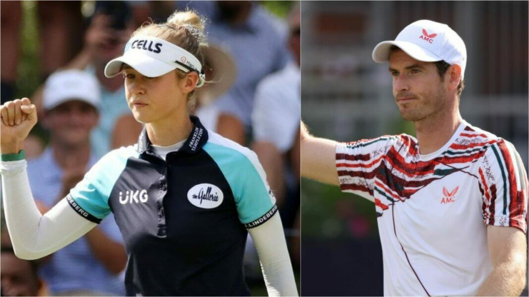 Nelly Korda and Andy Murray