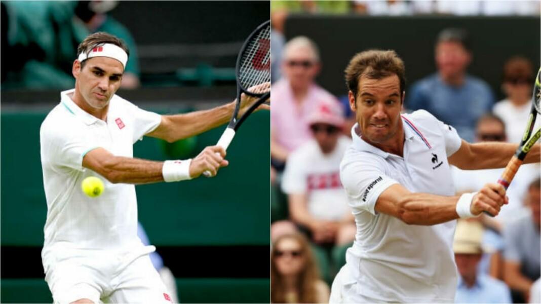 Roger Federer and Richard Gaquet