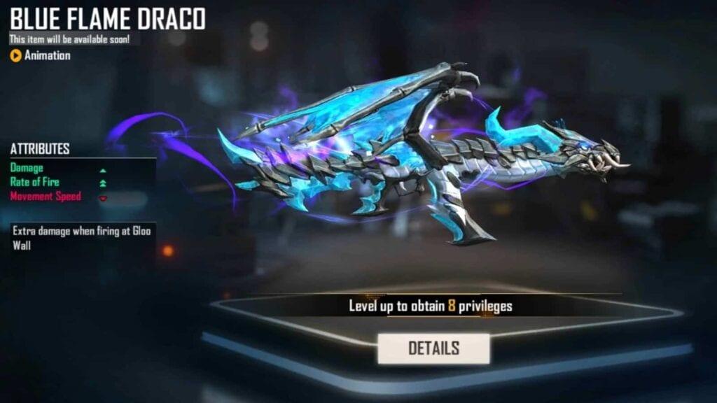 BLue Flame Draco AK In Free Fire