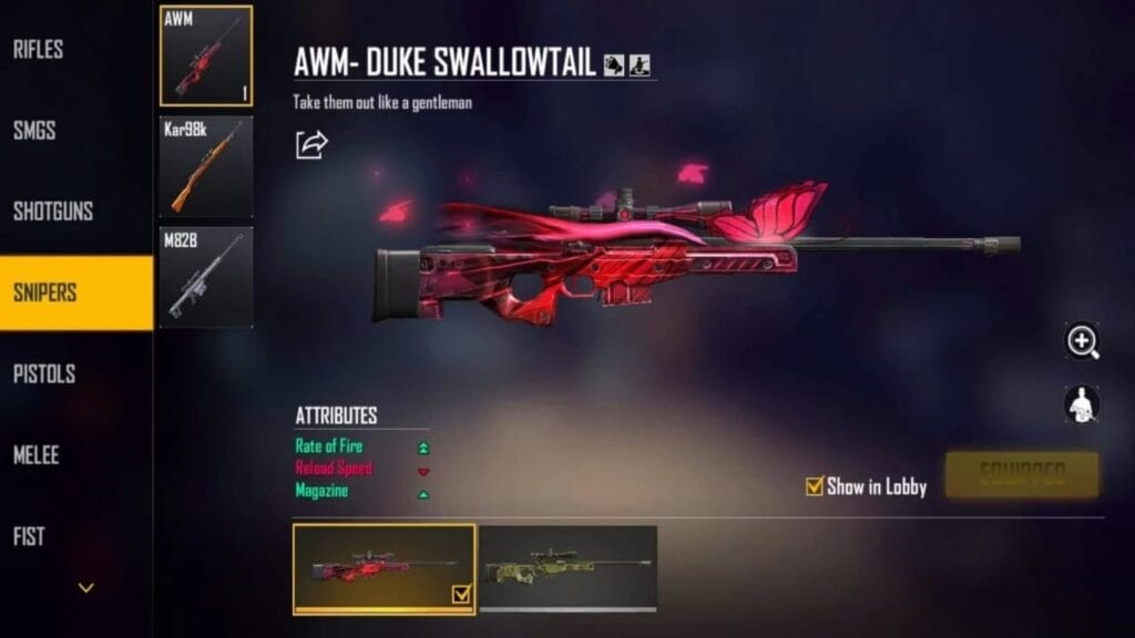 Duke Swallowtail Skin