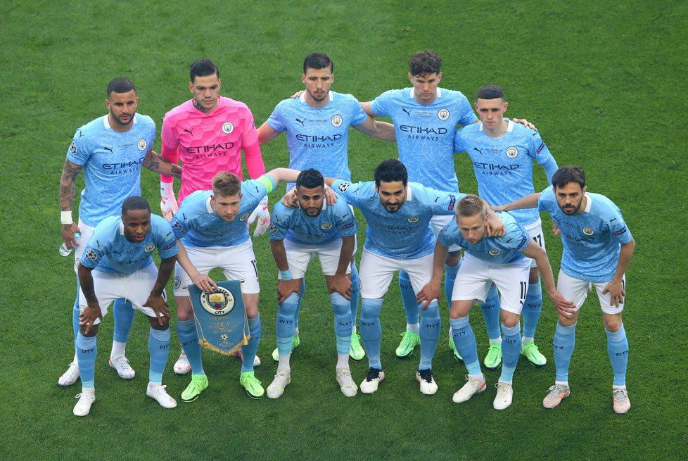 Manchester City players flood the PPFA team Of the Year