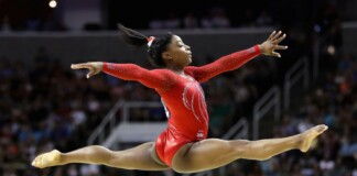 Simone Biles- a favourite to win at the Tokyo Olympics
