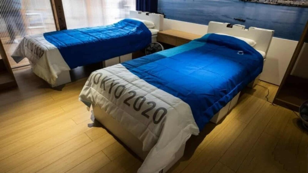 Beds provided for the athletes at Tokyo Olympics