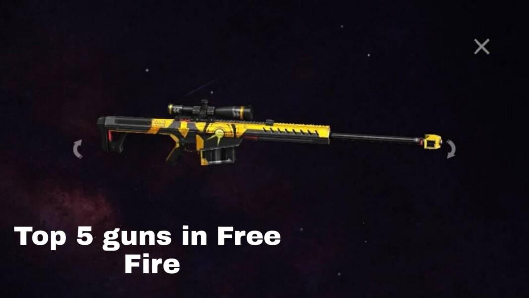 Top 5 Best Guns In Free Fire
