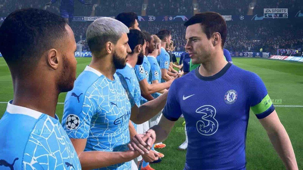 The Champions League final simulated in FIFA 21