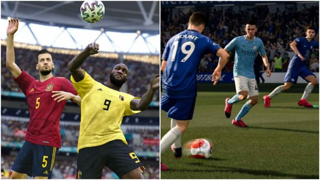 Graphics in PES and FIFA