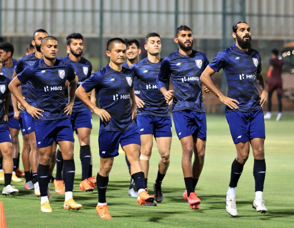 Indian team practicing