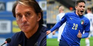 Mancini named uncapped U21 striker Raspadori in the final Italy squad for the Euros