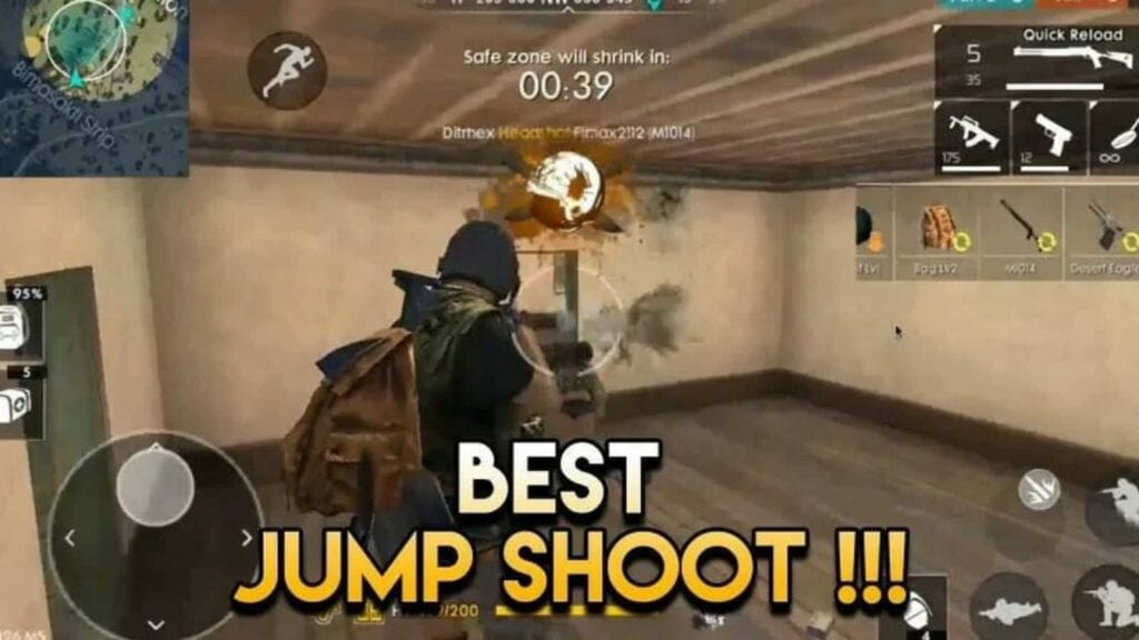 jump shoot in free fire
