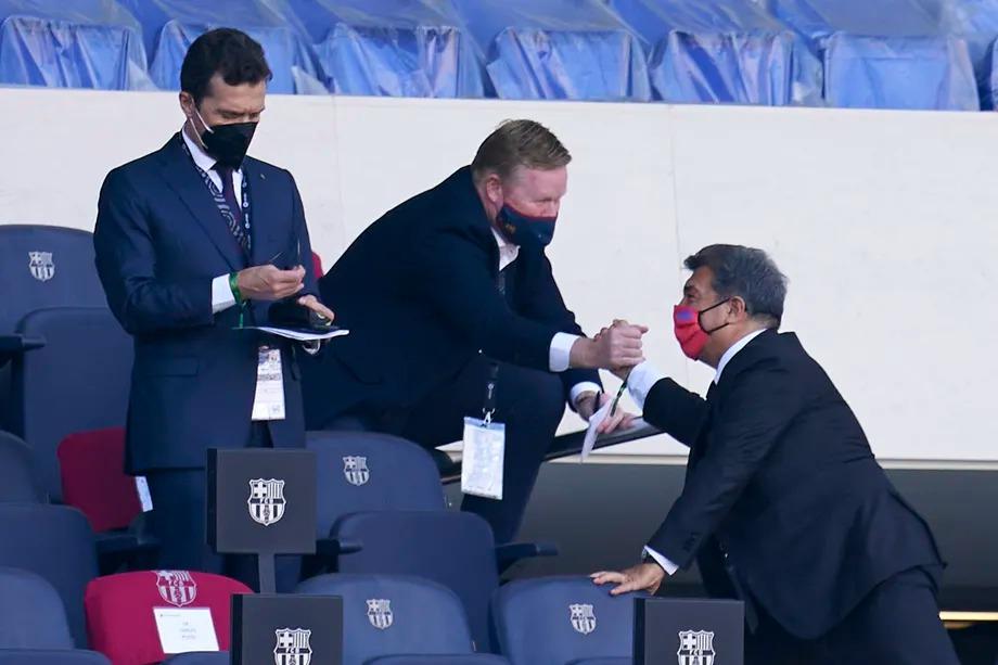 Barcelona president Joan Laporta has confirmed of Koeman's second season as Barcelona manager