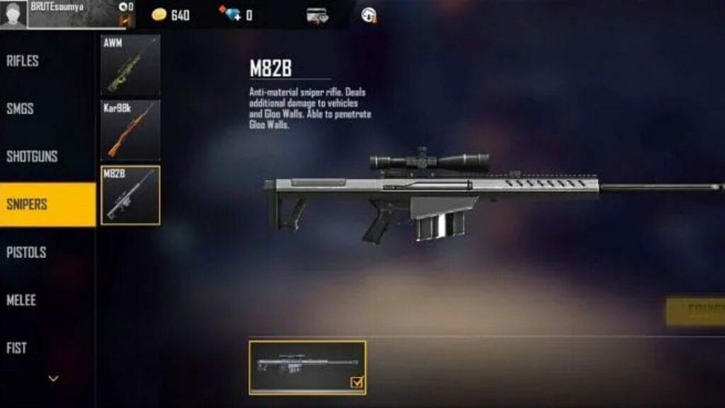 best sniper in free fire