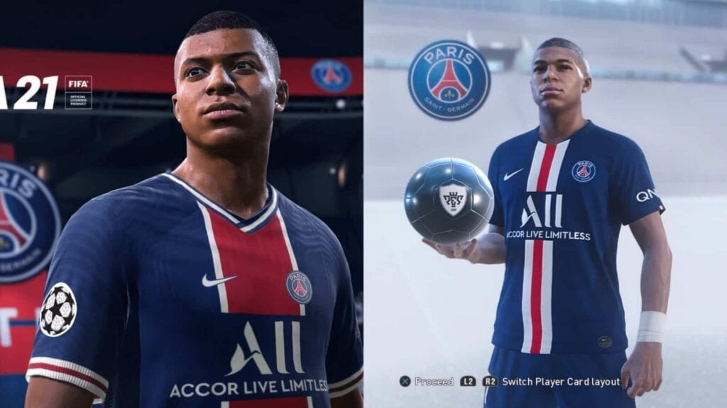 Mbappe player model in FIFA and Pes