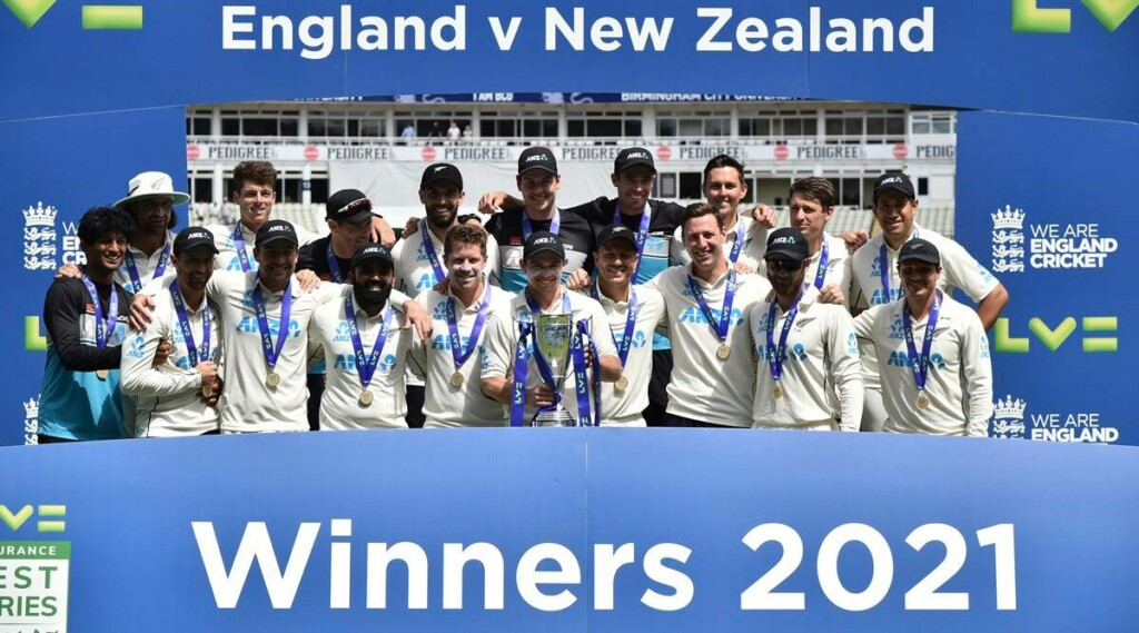 New Zealand wins the test series against England