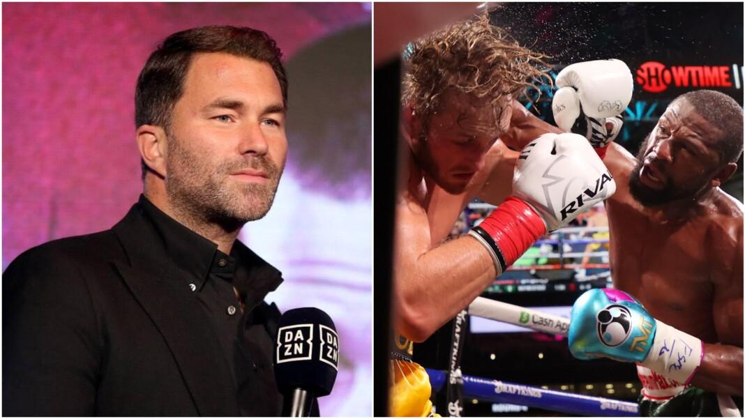 Eddie Hearn and Logan Paul vs Floyd Mayweather