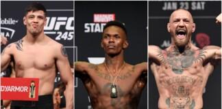 Brandon Moreno, Israel Adesanya and Conor McGregor UFC Pound-for-pound rankings